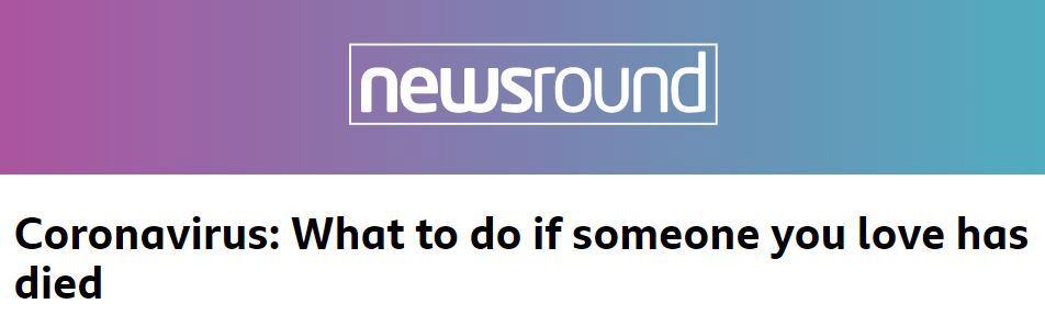 BBC Newsround: What to do if someone you love has died